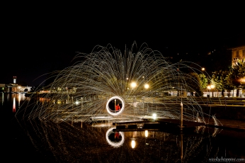 Steel wool painting